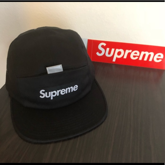 64aad60ce136 Supreme Reflective Tab Pocket Camp Cap